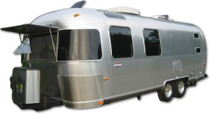 Vintage Airstream travel trailer