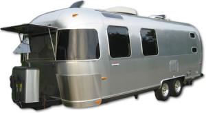 Vintage Airstream travel trailer