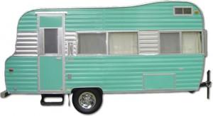Vintage Kenskill travel trailer