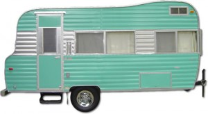 Vintage Kenskill travel trailer